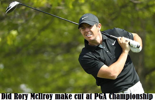 Rory McIlroy make cut at PGA Championship